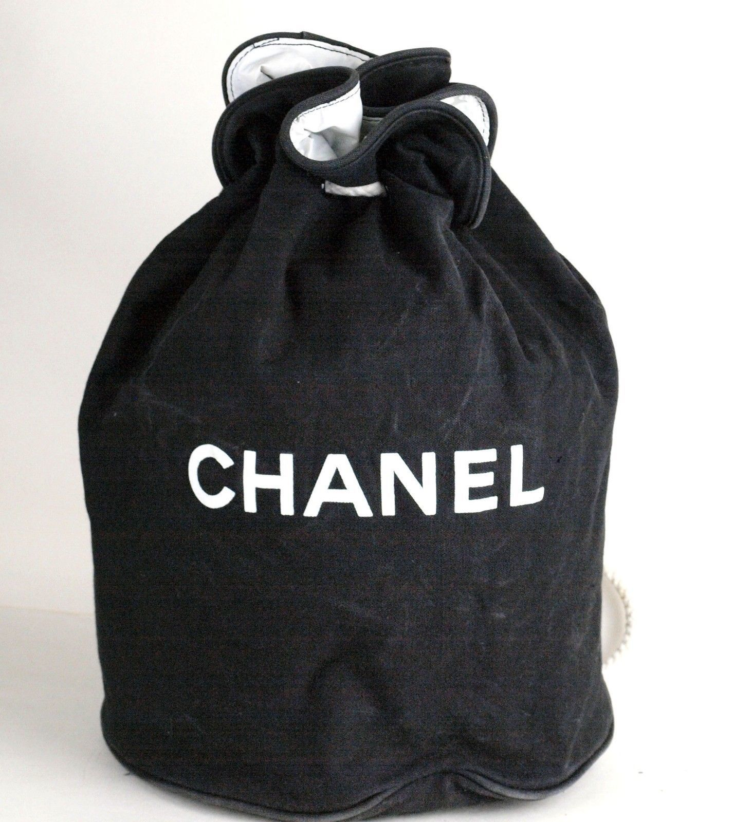 fdbf7e676893 Auth CHANEL Paris Black Cotton Canvas and 40 similar items