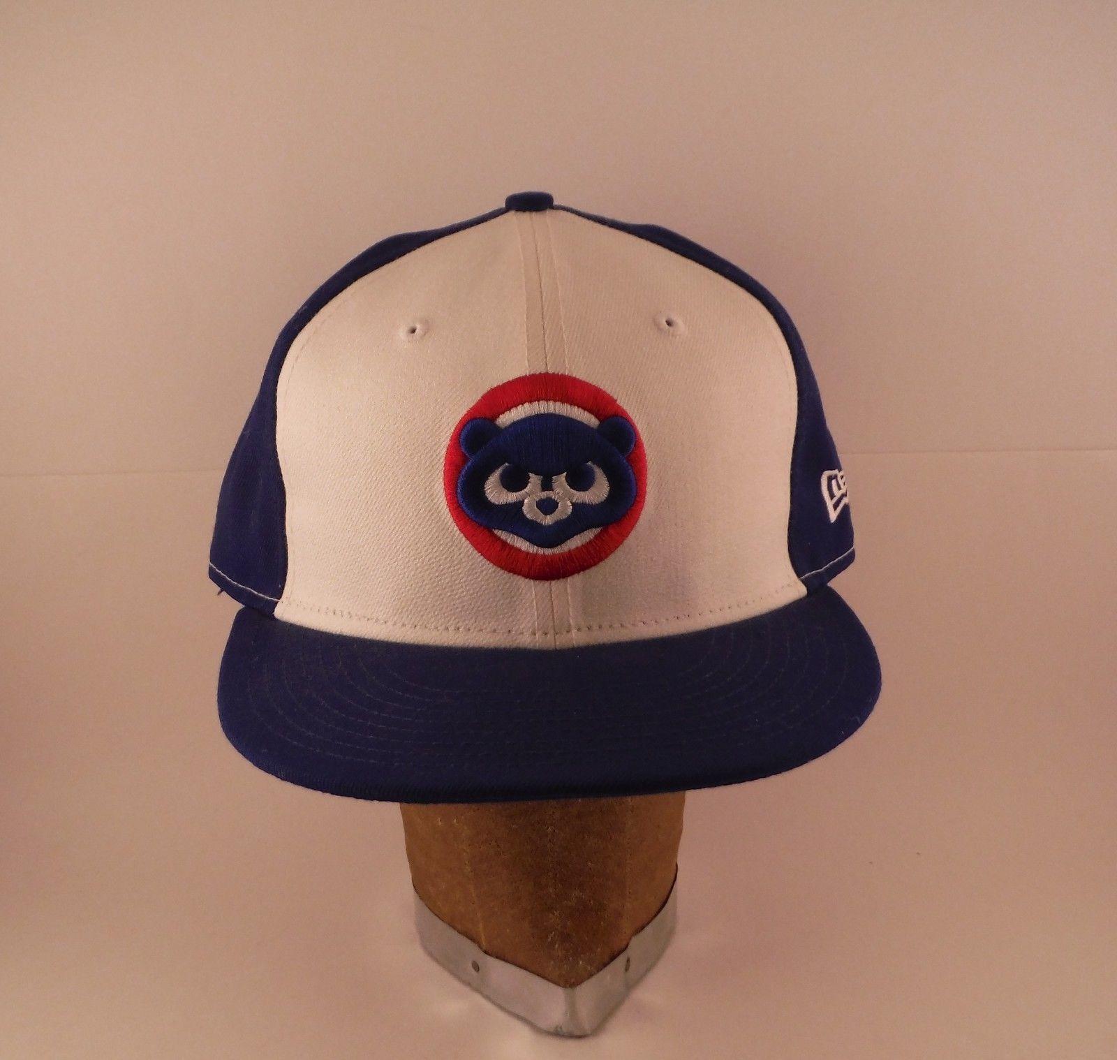 03dc40fd077 S l1600. S l1600. Previous. Chicago Cubs Cub Logo 100% Wool New Era Baseball  Hat Cap Mens Fitted 7 3 · Chicago Cubs Cub ...