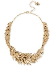 Betsey Johnson Gold-Tone Crystal Feather Statement Necklace - $60.00