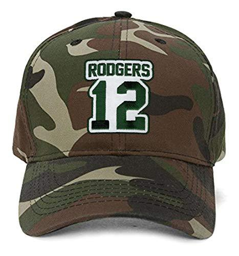 Aaron Rodgers No. 12 Hat - Adjustable Unisex Camo Football Cap