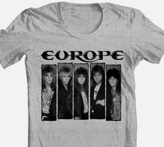 Europe T-shirt 1980's heavy metal rock concert retro 100% cotton graphic tee image 1
