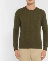 Polo Ralph Lauren Cable-Knit Cashmere Sweater, Green, XL - $69.29