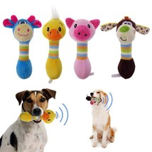Dog Pet Cat Toy Puppy Chew Teeth Squeaker Plush Sound Animals Toys Stuff... - $3.99