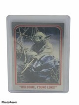 "Star Wars Chrome Archives P2 Promo Trading Card Yoda ""Welcome, Young Luke!"" - $18.69"
