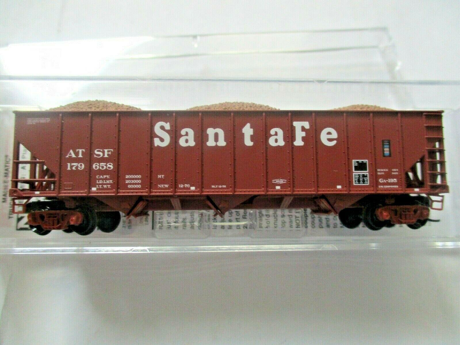 Micro-Trains # 10800123 Atchison, Topeka & Santa Fe 100 Ton 3-Bay Hopper N-Scale
