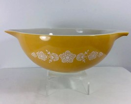 Golden Butterfly Cinderella Tab Handled Pyrex Mixing Bowl 444 4 Quart 1960s - $14.95