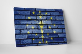 Vintage Indiana State Flag Gallery Wrapped Canvas Wall Art - $44.50+