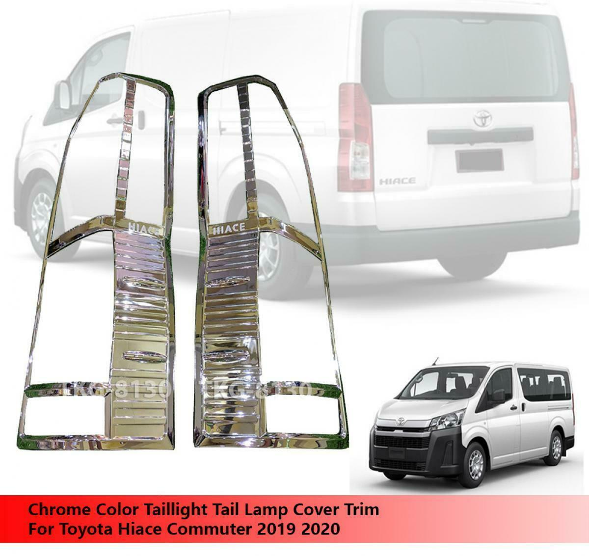 Chrome Tail Lamp Taillight Cover Trim For Toyota Hiace Commuter 2019 2020 - $68.26