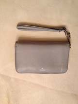 Light Blue & Aqua Teal Fossil Brand Leather Wrist Wallet  Zipper Around ... - $20.00