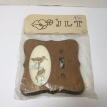"Birds Lightswitch Cover Needlepoint Kit Wooden JLT 5.5"" x 5.5"" - $14.50"