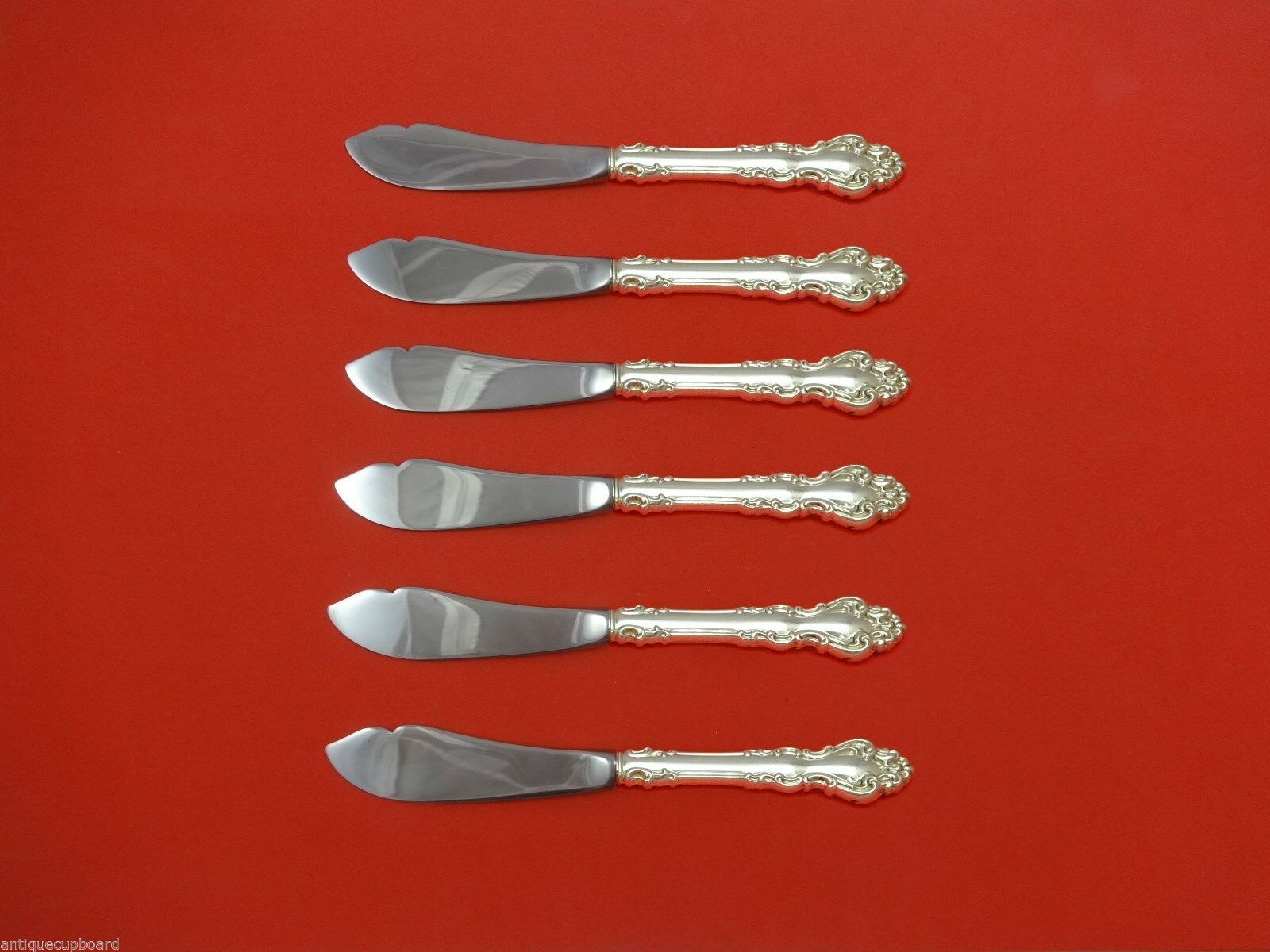 Spanish Baroque by Reed and Barton Sterling Silver Trout Knife Set 6pc. Custom - $429.00