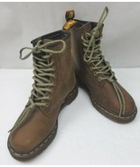 Doc Dr. Martens Rare 1460 to 1495 Limited Edition Brown Leather Boots Wo... - $169.83