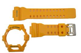 genuine Casio Watch band Strap & Bezel GLS-8900-9 yellow Rubber Set - $80.00