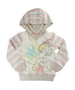 Disney Store Girls Tinker Bell Fiesty Fashion Sequins & Glitter Hooded S... - $30.56
