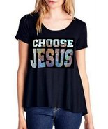 Love BFA Beauty for Ashes Womens Plus Choose Jesus Be Saved Bold Flowy T... - $45.00