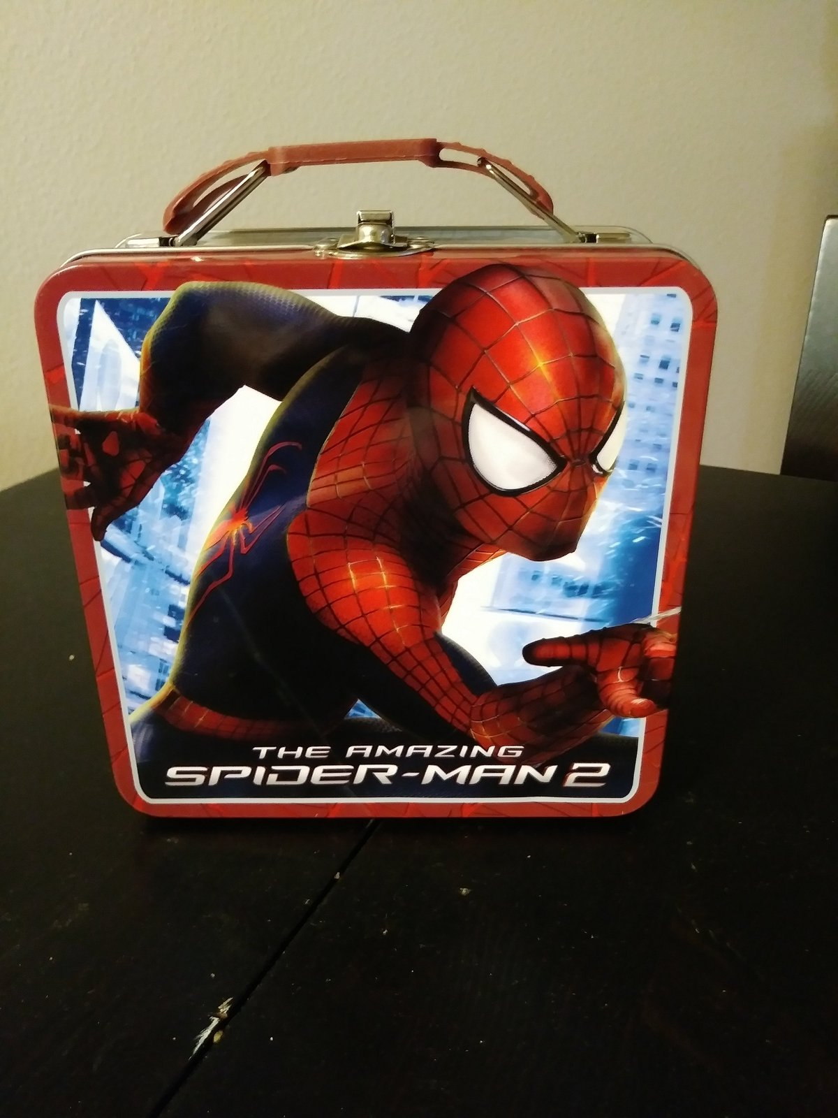 Marvel The Amazing Spider-Man 2 Tin Tote/ Metal Lunch Box Made in China