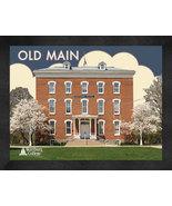 "Wartburg College ""Old Main"" 13 x 16 Art Deco Framed Print  - $39.95"