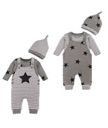 StylesILove Stripe and Stars Baby Boy T-shirt, Overalls and Hat 3-pc - $26.99
