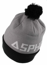 Asphalt Yacht Club Mens Gray Black Big A Cuff Fold Skate Beanie Winter Hat NWT image 2