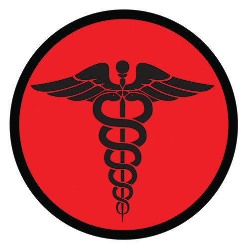 Primary image for MEDIC CORPSMAN CADUCEUS RED TACTICAL EMBROIDERED HOOK & LOOP  MILITARY PATCH