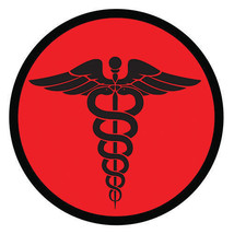 MEDIC CORPSMAN CADUCEUS RED TACTICAL EMBROIDERED HOOK & LOOP  MILITARY P... - $15.33