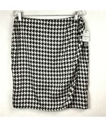 Liz Claiborne Womens 12P Petite Skirt Houndstooth Wrap Ruched Front Zip ... - $29.87