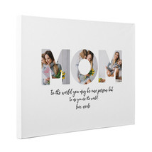 Personalized Mom To Me You Are The World Wall Art Canvas Gallery Wrap - $28.22