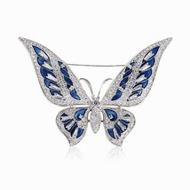Large Enamel Pin Lapel Insect Butterfly Brooches and Pins for Women Luxu... - $25.35