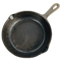 1930s BSR Cast Iron Skillet Red Mountain No 5 N WIth Inset Heat Ring Pou... - $45.48 CAD