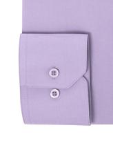 Berlioni Italy Men's Premium Classic Barrel Cuff Solid Lavender Dress Shirt image 3