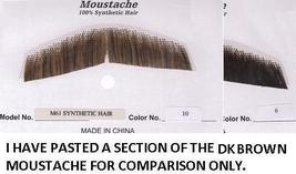 GENT'S SYNTHETIC HAIR MEDIUM BROWN MUSTACHE - $8.00