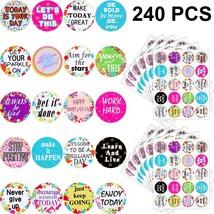 240 Pieces Inspiring Plr Stickers Inspirational Quote Stickers Encouragi... - $14.99