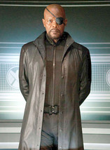The Avengers Samuel L Jackson Nick Fury Leather Trench Coat - BNWT - $89.99