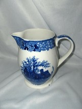 Vintage W. Adams House Of 7 Gables Pitcher Blue & White England - $44.55