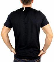 NEW NWT DIESEL INDUSTRY LOGO MEN'S DESIGNER PREMIUM COTTON T-SHIRT TEE BLACK image 4
