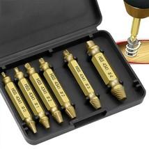 6cps/Set Screw Extractor HSS Drill Bit Set Broken Head Screw Removal Too... - $14.01