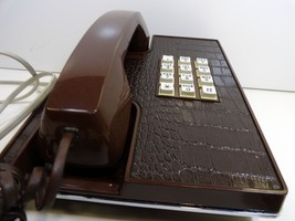 Vintage Western Electric Faux Alligator Brown Electric Phone Untested 19... - $25.00