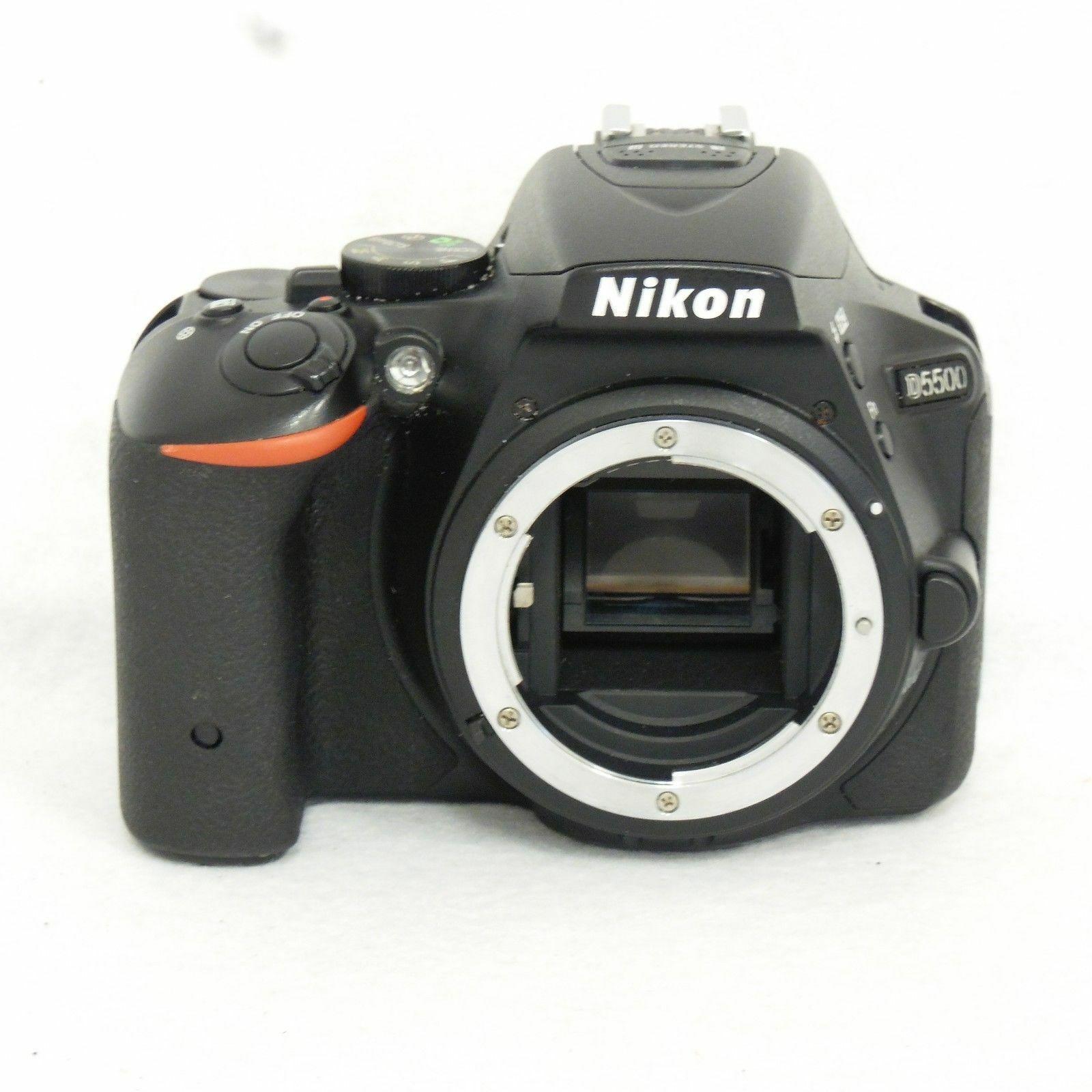 Nikon D5500 24.2MP Digital SLR Camera 18-55mm AF-S VR2 Lens Set DSLR Digital