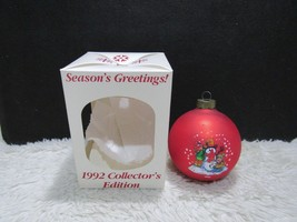 1992 Season's Greetings, Christmas Tree Ornament, Campbell's Collector's... - $8.45