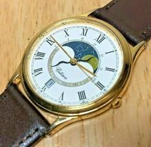 Vintage Citizen 2870 Men Moon Phase Analog Quartz Watch Hour~Day Date~Ne... - $142.49