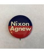 NIXON AGNEW CAMPAIGN PIN BUTTON - $3.91