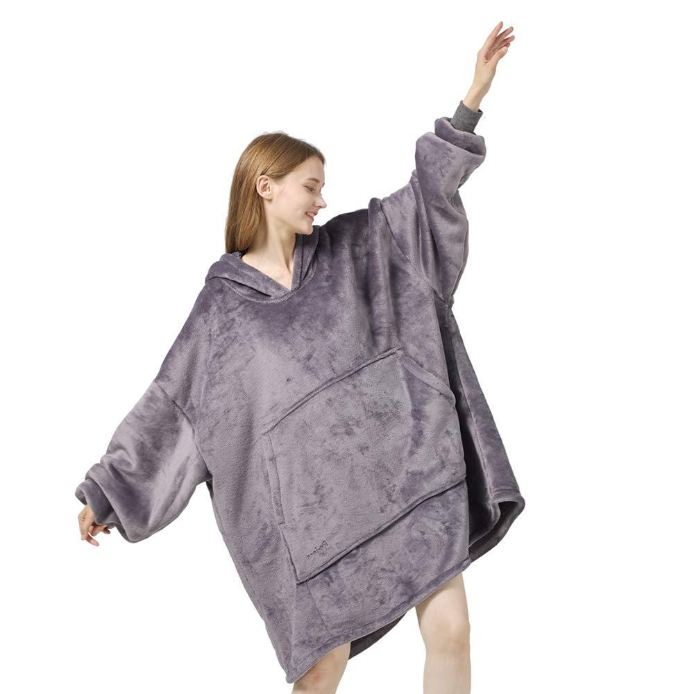 Primary image for Blanket Sweatshirt Hoodie Oversized Sherpa Wearable Blanket Plush Warm and Cozy