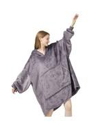 Blanket Sweatshirt Hoodie Oversized Sherpa Wearable Blanket Plush Warm a... - $77.08+