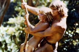 Tarzan The Ape Man Bo Derek Swings with Miles O'Keefe 24x18 Poster - $23.99