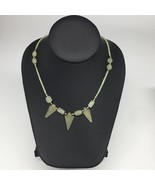 "13.8g,2mm-25mm, Small Green Nephrite Jade Arrowhead Beaded Necklace,19"",... - $4.75"