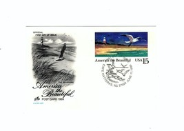 "POSTCARD-""THE SEASHORE""-AMERICA The Beautiful Series First Day Of Issue BK7 - $1.47"