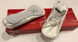 Capezio Kinder Kompletter Sohle Daisy 205X Weiß Ballerins,Kleinkinder 7M... - $13.95