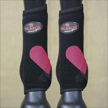 L- Hilason Infra-Tech Horse Rear Hind Leg Sport Boot Medicine Black Pink U-NK-L - $64.95