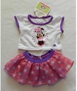 NEW Build A Bear Clothes Disney Minnie Mouse Tutu & Shirt Set - NWT - $28.99