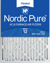 Nordic Pure 16x25x2 Pleated MERV 12 Air Filters 3 Pack - $31.09